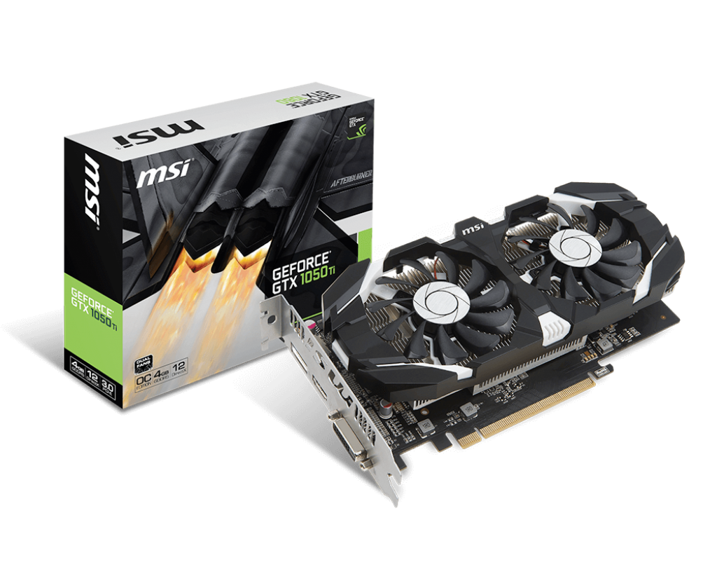 MSI GeForce GTX 1050 Ti OC